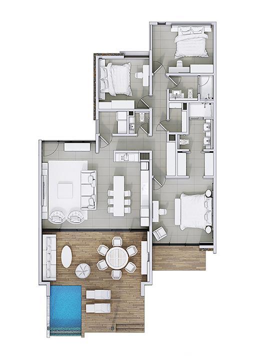 3 Bedroom Apartment / Flat For Sale in Baie Du Cap